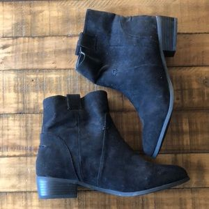 NEVER WORN black suede ankle boots- size 7.5!